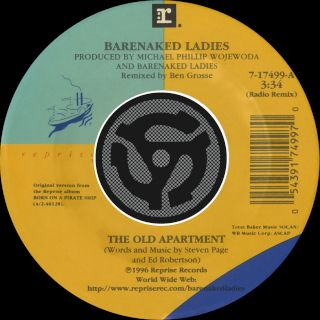 The Old Apartment (Radio Remix) / Lovers In A Dangerous Time (Non Album Version) (Digital 45)