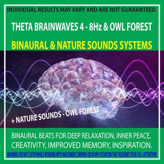 Theta Brainwaves 4 - 8Hz & Owl Forest