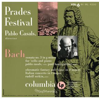 Bach:Sonata No. 3, BWV 1029, Chromatic Fantasia And Fugue, BWV 903 & Italian Concerto, BWV 971, Cappricio, BWV 992 & Toccata, BWV 914