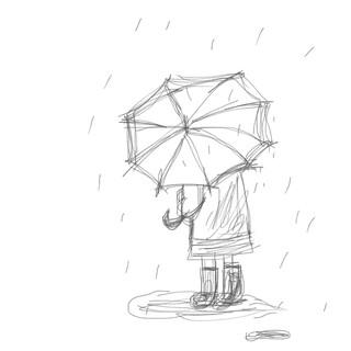 비오는 날에
