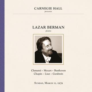 Lazar Berman At Carnegie Hall, New York City, March 11, 1979