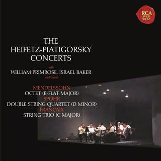 Mendelssohn:Octet In E - Flat Major, Op. 20 - Spohr:Double Quartet In D Minor, Op. 65 - Francaix:Trio In C Major - Heifetz Remastered