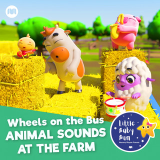 Wheels On The Bus - Animal Sounds At The Farm