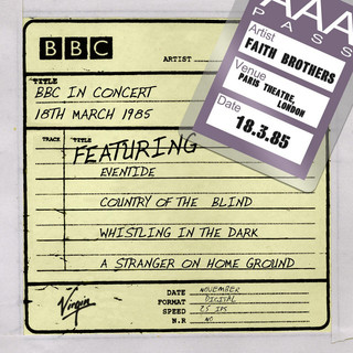 BBC In Concert, Recorded At The Paris Theatre, 18th March 1985
