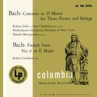 Bach:Concerto For 3 Keyboards & French Suite No. 6