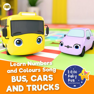 Learn Numbers And Colours Song - Bus, Cars And Trucks