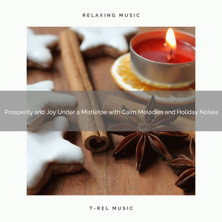 Prosperity And Joy Under A Mistletoe With Calm Melodies And Holiday Noises