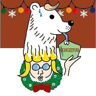 北極熊的咖啡色聖誕
