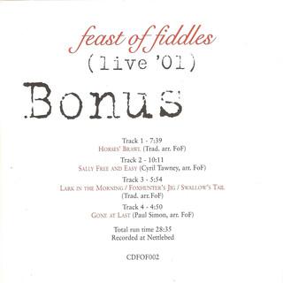 Live 01 - Bonus