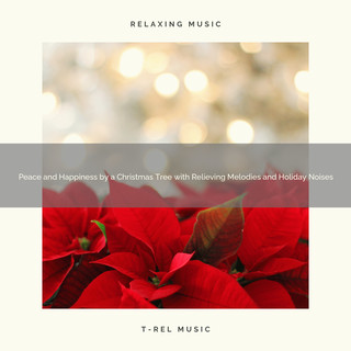 Peace And Happiness By A Christmas Tree With Relieving Melodies And Holiday Noises