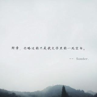 所幸,你略過的只是我文字裡的一處空白。(Sonder)