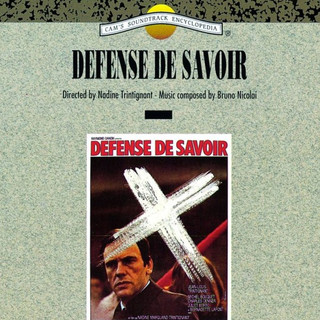 Defense De Savoir (Original Motion Picture Soundtrack)