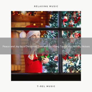 Peace And Joy By A Christmas Tree With Soothing Tunes And Holiday Noises