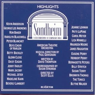 Sondheim:A Celebration At Carnegie Hall (Highlights)