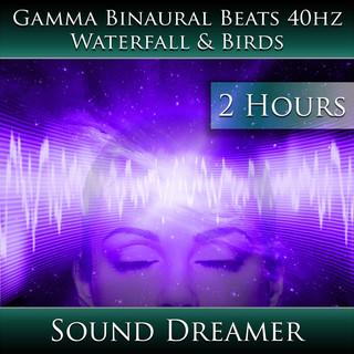 Gamma Binaural Beats 40hz - Waterfall And Birds (2 Hours)